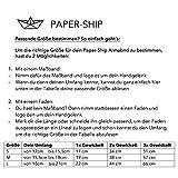 "Paper-Ship Armband ""Santos I"" – Naturbraunes Lederband mit Magnetverschluss - 5"