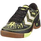 Hummel REBEL LEGEND JR. 60257 Unisex - Kinder Sportschuhe - Indoor,  EU 35 grau (ebony/black/neon yellow)