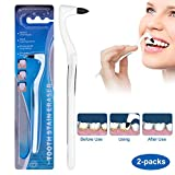 Dissolvant de tartre professionnel - Polisseur dentaire Blanchiment des dents par Détachant, Nettoyage des dents Enlève Taches sur les Tartares, Couverts dentaires efficaces, 2 pièces