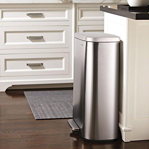 becff81022b0 HOMFA Cubos de Basura Automático Papelera de Reciclaje de Sensor Basurero  para Cocina de Acero Inoxidable