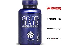 Good Hair Growth Vitamins with DHT Blocker and 5,000 mcg Biotin to Stop Hair Loss in Men and Women - for Healthier Hair, Skin and Nails, 60 Tablets
