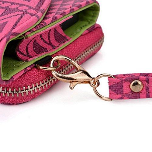 Kroo Pochette/étui style tribal urbain pour épices Smart Flo 503(mi-503) Multicolore - Brun Multicolore - Rose