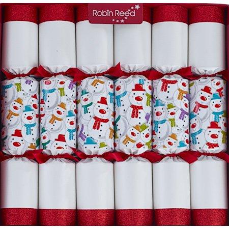 Weihnachtsknallbonbons (Knallbonbon) - 6 x Racing Snowman Family Fun Christmas