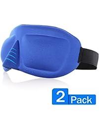Coshom Super Soft & Comfortable 3D Sleep Mask Eye Mask With Adjustable Strap-Light Blocking Eye Mask For Men &...