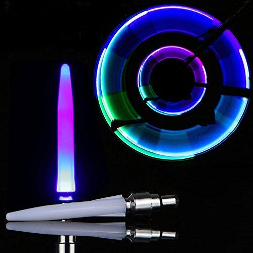 Dual-mount-deckenleuchten (Lanlan Fahrrad Reifen Ventil Rad Cap Alarm Light MTB Auto LED Flash Rad Lampe verwendet für Sicherheit und Warnung 2Wasserdicht Stoßfest Bike Spoke Light, blau)