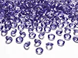 MultiProject - Piedras Decorativas de Diamantes, 12 mm, 1,2 cm, Cristal de Hielo, Piedras acrílicas, decoración de Mesa para Bodas (púrpura)