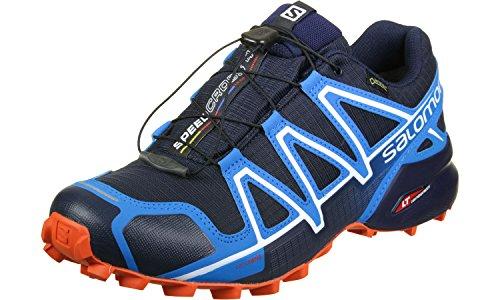 Salomon Speedcross 4 Gtx, Scarpe da Trail Running Uomo, Blu (Navy Blazer/Cloisonné/Flame), 40 2/3 EU