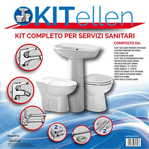 Bagno completo/servizi sanitari - vaso bidet lavandino completo di accessori per il montaggio