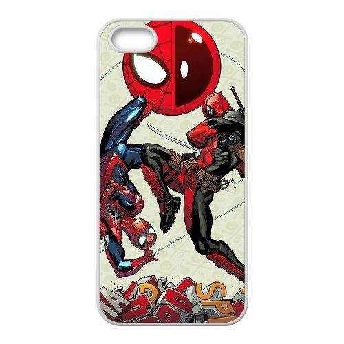 Deadpool coque iPhone 4 4S Housse Blanc téléphone portable couverture de cas coque EBDXJKNBO12078