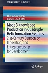 Mode 3 Knowledge Production in Quadruple Helix Innovation Systems: 21st-Century Democracy, Innovation, and Entrepreneurship for Development (SpringerBriefs in Business)