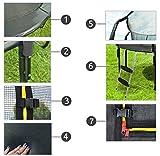 MALATEC Gartentrampolin mit Sicherheitsnetz und Leiter HQ Ø 305/360 cm Outdoor Trampolin 2211, Größe:305 (8 stangen) - 4