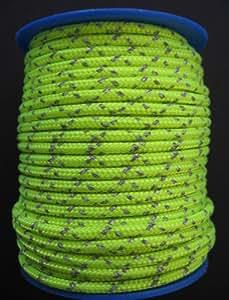 Gepolight Flechtleine/Flechtschnur/Seil stark reflektierend 3mm-20meter neongelb
