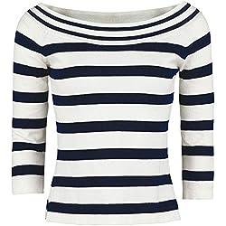 Dancing Days Stripe Jersey de Punto Negro-Blanco XXL