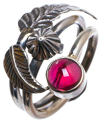 925er Sterling Silber Amethyst Einzigartig Handgefertigt Ringe 17 1/4 Purple X2006 (Ringe Button Belly Violett)