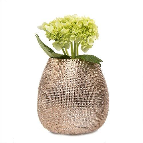 Chive Mesh Topf Keramik Vase in Rose Gold
