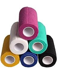 Andux Zone 6 Satz Multifunktions -Farb medizinische Klebeverband gewebt Farbe Random ZZTXBD-01 (10cm*4.5m)