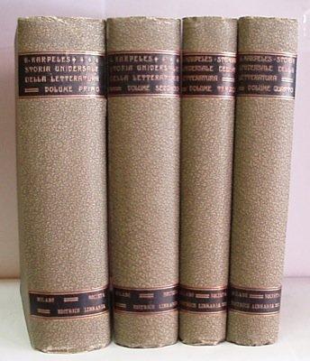 Storia universale della letteratura. Traduzione con note ed aggiunte del Prof. Diego Valbusa e del Dott. Eugenio Levi.