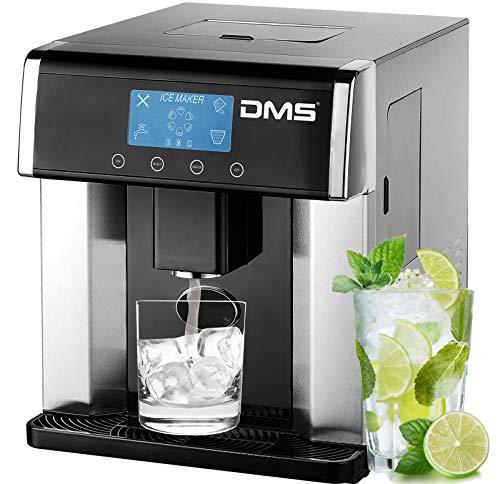 DMS® Eiswürfelmaschine Eis- Wasserspender Eiswürfelbereiter Ice Maker 15 Kg/24h, Ice Dispenser, LCD-Display Eismaschine 3 Eiswürfelgrößen Wasserauslauf EWMD-1024