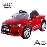 Babycar 99852r–Coche Eléctrico para Niños Audi A3con Mando a Distancia, 12V, Rojo