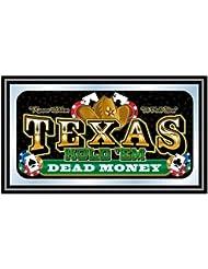 Texas Hold 'em Framed Poker Mirror - DEAD MONEY
