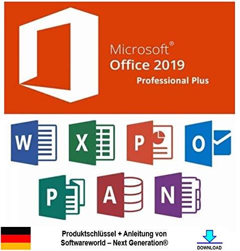 Office Professional Plus 2019 32 /64 bit Produktschlüssel inkl. Anleitung von Softwareworld - Next Generation®