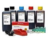 Chipresetter kompatibel für Canon PGI 550, CLI 551 Patronen mit 5 x 100 ml Druckertinte für Pixma IP 7200, IP 7250, IP 8700, IP 8750, IX 6800, IX 6850, MG 5400, MG 5450, unbegrenzte resets (non OEM)