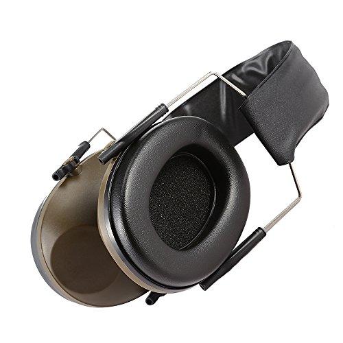 XU-XIAZHI,Taktischer faltender Gehörschutz, der Jagd schalldichter Kopfhörer-Ohrenschützer jagt(Color:ARMEEGRÜN)