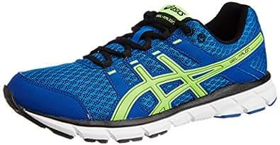 ASICS Men's Gel Xalion Blue, Lime Green and White Mesh Running Shoes - 12 UK