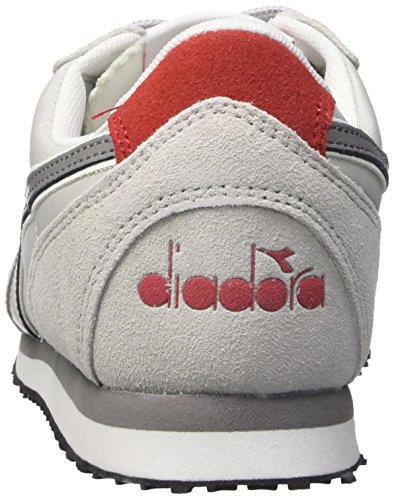 Diadora Unisex-Erwachsene K_run Trainingsschuhe, Grün Multicolore (C5755 Grigio Alaska/Rosso Fer.Italia)
