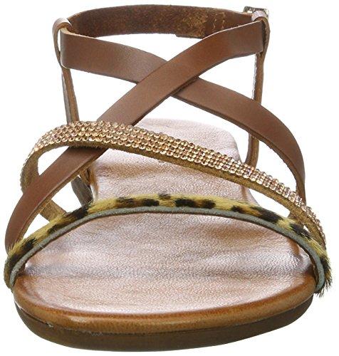 Bianco Damen Legere Sandale 21-49333 Offene Braun (Light Brown)