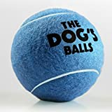 The Big Dog's Balls, 3 Large Blue Tennis Balls, Premium, Strong Dog Toy Ball for Dog Fetch & Play. Large Dogs Balls, Too Big for Chuckit Launchers, the King Kong of Dog Balls