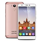 OUKITEL U15 Pro 5.5 inch 4G Android 6.0 MT6753 Octa Core 3G RAM+32G ROM Smartphone IPS HD Screen Dual SIM Metal Cover Mobile Phone Fingerprint HotKnot OTG Cellphone GPS (Rose Gold)