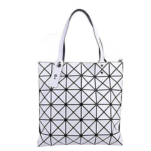 Forma Geometrica Pacchetto Cube Pieghevole Varietà Borsa A Tracolla Della Borsa Di Modo Casuale White