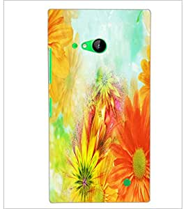 PrintDhaba Painting D-3956 Back Case Cover for NOKIA LUMIA 730 (Multi-Coloured)