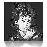 CanvasArts Audrey Hepburn Street Art - Leinwand Bild auf Keilrahmen Wandbild modern abstrakt 12.1831 (40x40 cm)