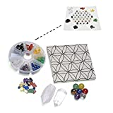 JSDDE 7 Chakra Healing Crystal Grids Kit /Lot of 7 Chakra Round Beads, Assorted Chip Gemstones, Clear Quartz Crystal Wands Points Sticks, Flower of Life Sacred Geometry Crystal Grids Altar Cloth