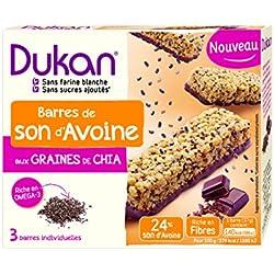 Dukan Barres de Son d'Avoine aux Graines de Chia 111 g