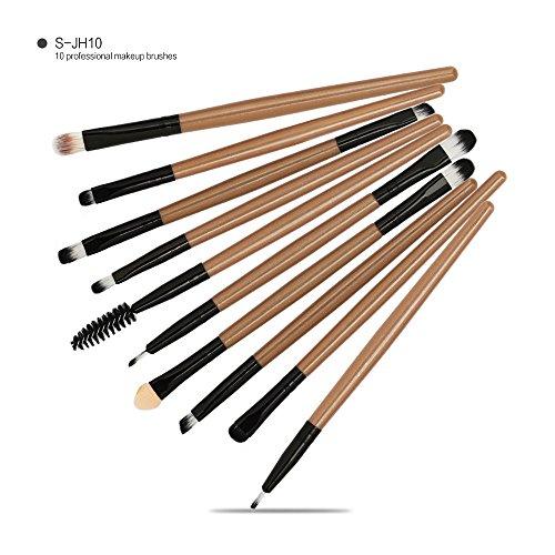 Daysing Make Up Pinsel Set 10 Stücke professionelles Kosmetikpinsel Pinselset Schminkpinsel lidschattenpinsel augen und wangen pinsel beauty tools