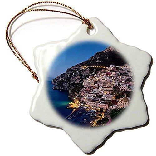 Bowen Rhodes Danita Delimont-Italy-Morning Twilight over Positano lungo la costiera Amalfitana, Campania, Italia-7,6cm Snowflake Porcelain Ornament