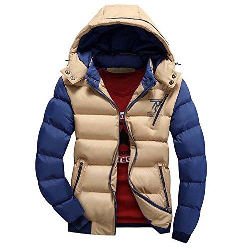 Highdas Herren Jacken Warm Baumwolle Mantel Hooded Outwear Dicken Parka Mantel Khaki