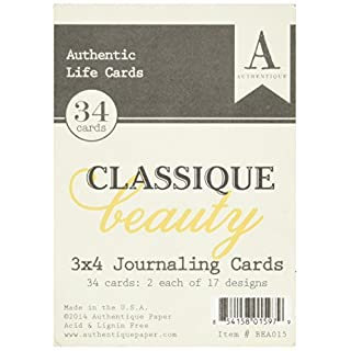 Authentique Paper Beauty Crafting Pad 3-inch x 4-inchPocket Authentique Life Cards, 3 x 4
