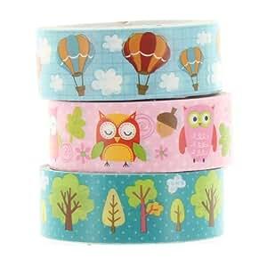 Washi Masking Tape OWL & BALLON Klebeband 3er Set