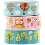 Washi Masking Tape OWL & BALLON Klebeband 3er Set