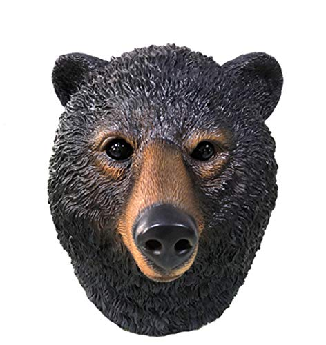 MRY LUCKY Tierische Black Bear Head Party Latex Maske, Halloween Erwachsene KostüM Party Scary Requisiten (Bear Head Kostüm)