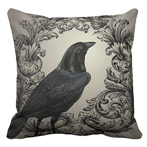 züge, Throw Pillow Covers, Throw Pillow case, 21 Modern Halloween Crow Decoration Pillow Case Cushion Cover 18 inch by ()
