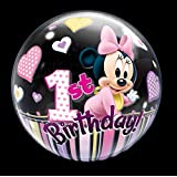 Happy 1st Birthday Minnie Mouse balloons (22in)