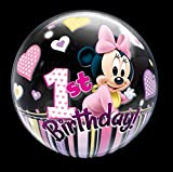 Qualatex 32.669,5 cm Single DN Minnie Maus 1. Bday 2,5 cm Bubble Ballon, 22