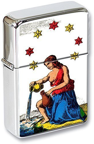Tarot (L'ETOILE, The Stars) Mechero con tapa EN UNA LATA DE REGALO