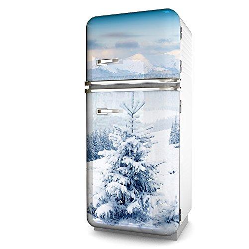 Kühlschrank-Folie Snow selbstklebend mehrere größen   Sticker-folie   Klebefolie   Kühlschrank-Aufkleber   Front-folie   Dekoration   Küche   Deko-folie   Möbel-folie   Vinyl-folie