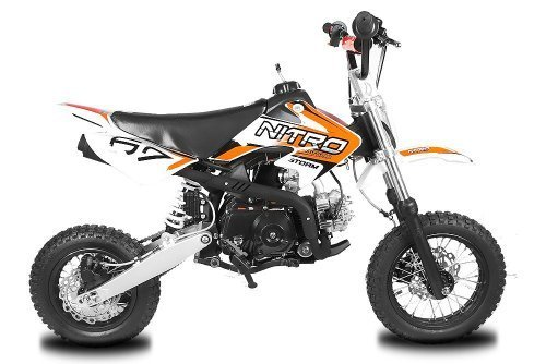 Dirtbike Storm 110cc 12/10 Automatik mit E-Start Crossbike Minibike Kinderbike (Orange)
